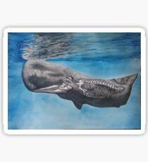 Skeleton Whale Watercolor Sticker
