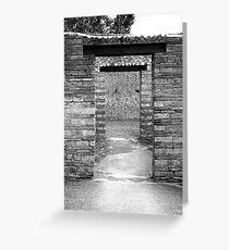 door ways in pompie Greeting Card