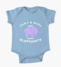 Elephant Tee Shirt Just A Girl Who Loves Elephants Kids Clothes