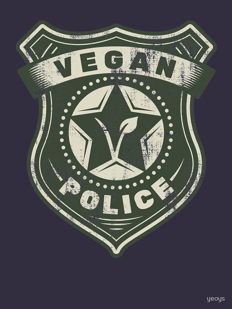 Vegan Police Badge - Funny Veganism Gift by yeoys