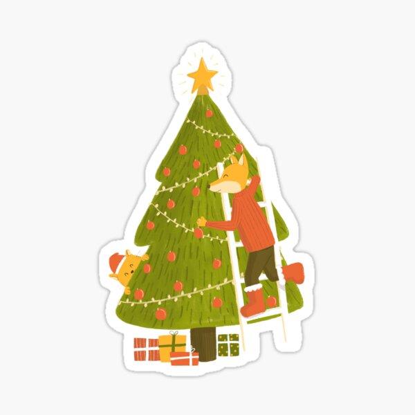 Merry Christmas Mr. Fox Sticker