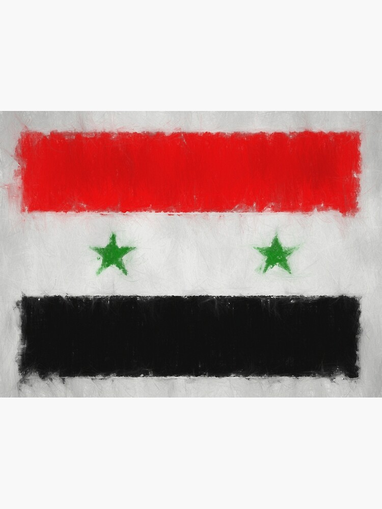 Syria Flag Reworked No. 66, Series 3 by 8th-and-f