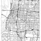 Memphis Map Minimal by HubertRoguski