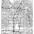 Las Vegas Map Minimal by HubertRoguski