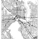 Jacksonville Map Minimal by HubertRoguski