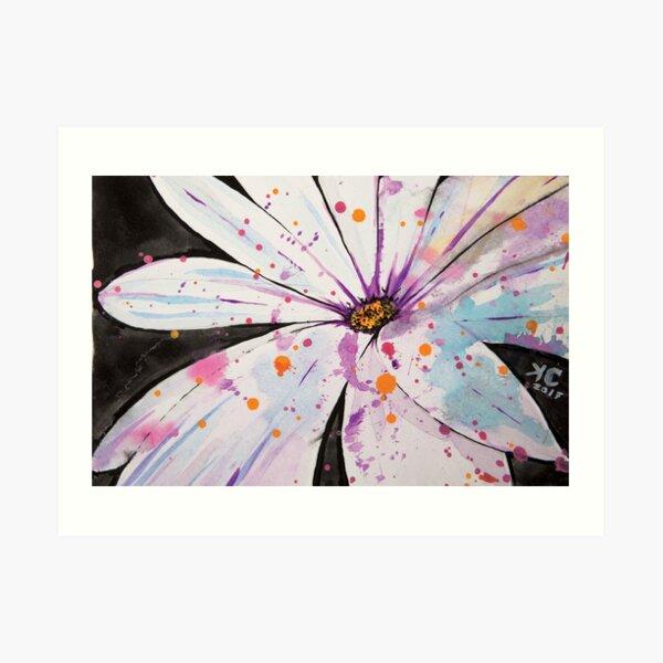 Spring-Splattered Daisy Art Print