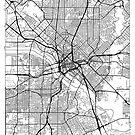 Dallas Map Minimal by HubertRoguski