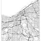Claveland Map Minimal by HubertRoguski
