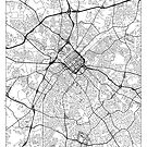 Charlotte Map Minimal by HubertRoguski