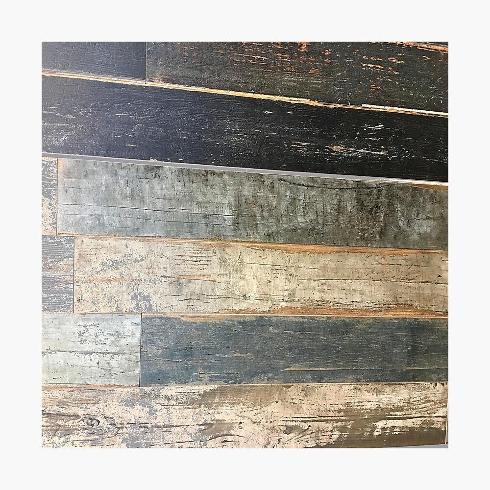 Distressed Strand rustikalen Land Bauernhaus chic teal Scheune Holz Fotodruck
