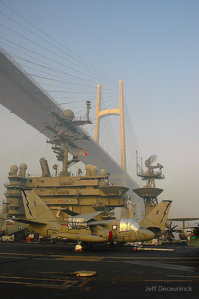 bridge on the Suez canal by Jeff Deceuninck