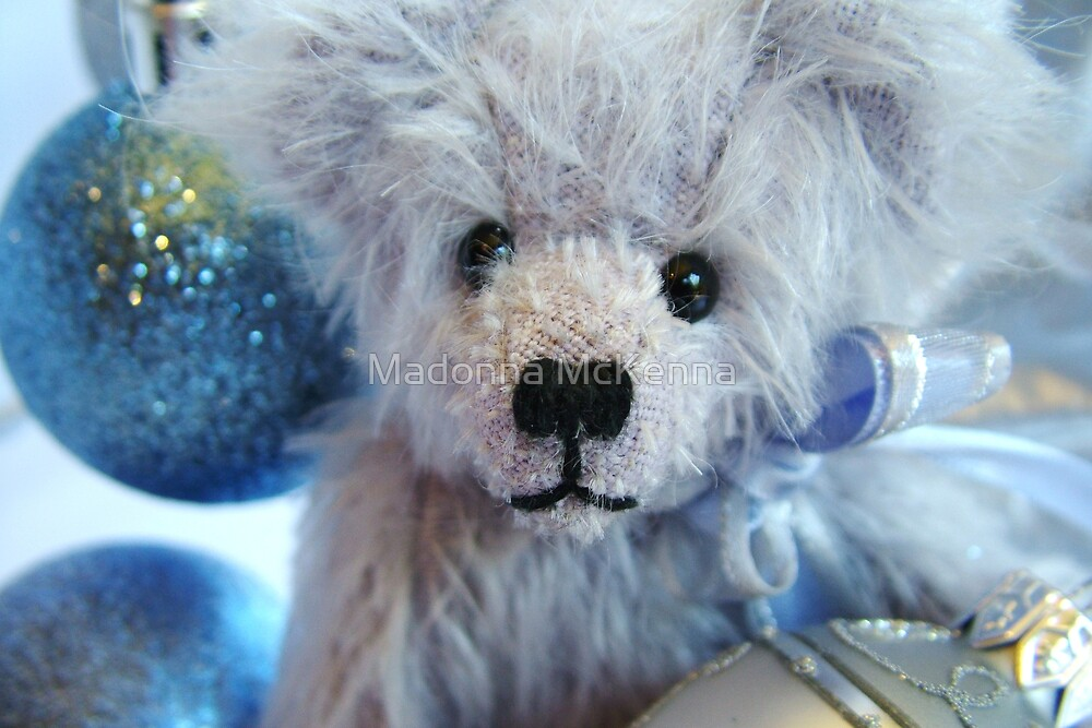 Beary Blue and Silver Xmas by Madonna McKenna
