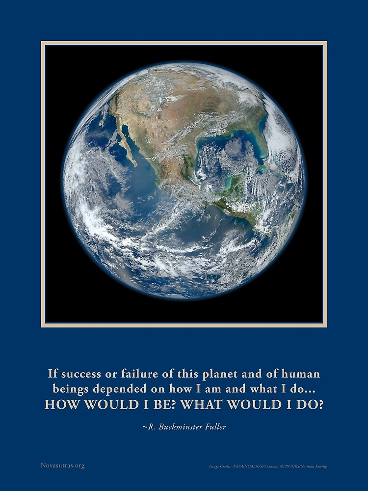 What Would I Do? R. Buckminster Fuller quote Novasutras by Novasutras