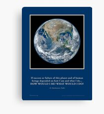 What Would I Do? R. Buckminster Fuller quote Novasutras Canvas Print