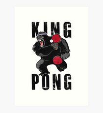 Vintage King Pong - Ping Pong Table Tennis T-Shirt Art Print