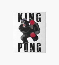Vintage King Pong - Ping Pong Table Tennis T-Shirt Art Board Print