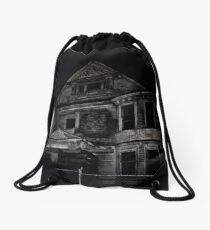 Abandoned - House on the Hill by SparklePyre Drawstring Bag