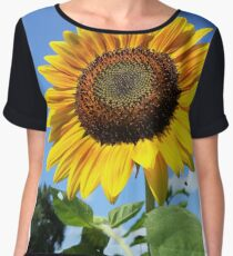 Open Sunflower Women's Chiffon Top