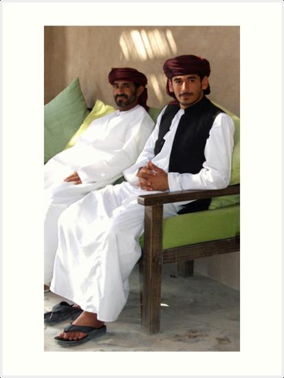 Sitting Men, Oman by John Douglas