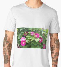 Moonflowers on Garden Gate Men's Premium T-Shirt