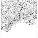 Bridgeport Map Minimal by HubertRoguski