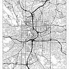 Atlanta Map Minimal by HubertRoguski