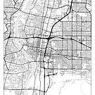 Albuquerque Map Minimal by HubertRoguski