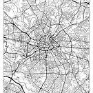 Manchester Map Minimal by HubertRoguski