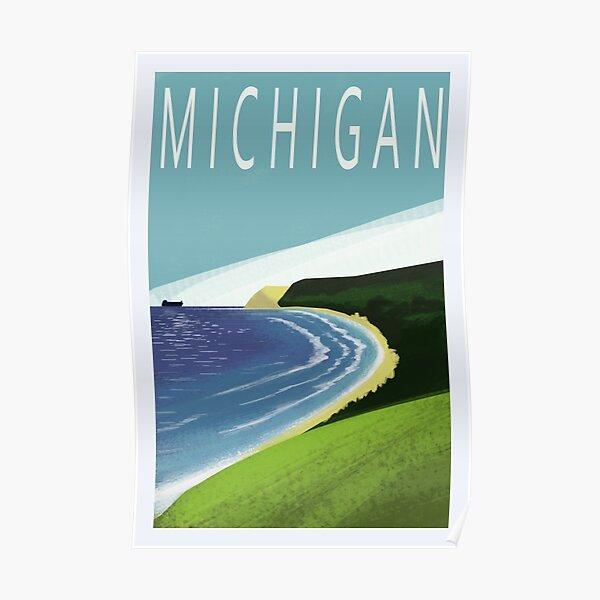 Michigan Travel Poster Poster
