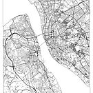 Liverpool Map Minimal by HubertRoguski