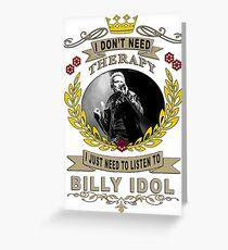 billy idol one love Greeting Card