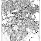 Ankara Map Minimal by HubertRoguski