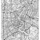 Bangkok Map Minimal by HubertRoguski