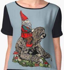 Gnome Riding a Sloth Chiffon Top