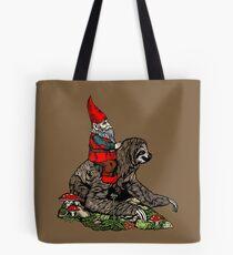 Gnome Riding a Sloth Tote Bag