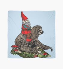 Gnome Riding a Sloth Scarf