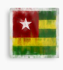 Togo Flag Reworked No. 2, Series 2 Metal Print