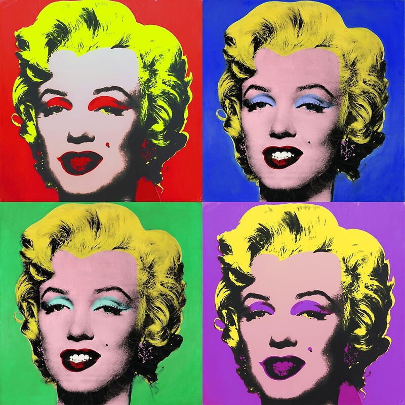 marilyn monroe pcm andy warhol pop art parody posters by pcmpoliticalfb redbubble. Black Bedroom Furniture Sets. Home Design Ideas