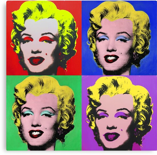 marilyn monroe pcm andy warhol pop art parody canvas prints by pcmpoliticalfb redbubble. Black Bedroom Furniture Sets. Home Design Ideas