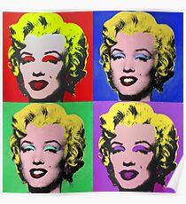 MARILYN MONROE PCM ANDY WARHOL POP ART PARODY Poster