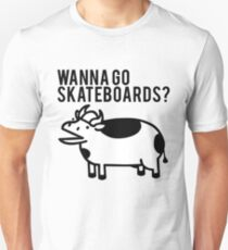 Wanna go skateboards? Meow, meow, I'm a cow - ASDF Movie from TomSka Unisex T-Shirt