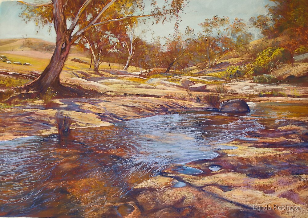 Summer Day - Hughes Creek at Tarcombe by Lynda Robinson