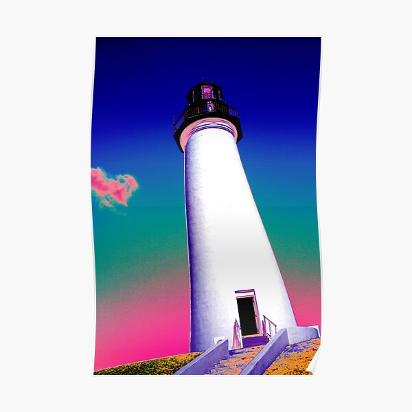 Rainbow Lighthouse Poster