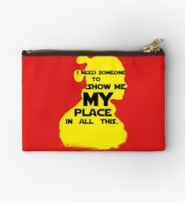 """STAR WARS - """"I Need Someone to Show Me My Place in All This."""" by Rey Studio Pouch"""