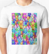 Retro Hippie Floral Pattern T-Shirt