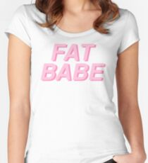 FAT BABE Women's Fitted Scoop T-Shirt