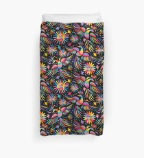 Mexican embroidery seamless pattern Duvet Cover