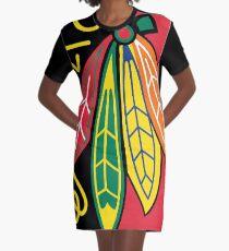 Native American Tribe Chicago American Blackhawks Graphic T-Shirt Dress