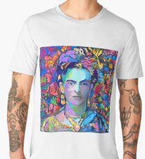 Frida in the Butterflies  Men's Premium T-Shirt