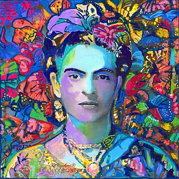 Frida in the Butterflies  by RDRiccoboni